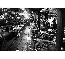 Talat Khua Din Marketplace - Vientiane, Laos Photographic Print