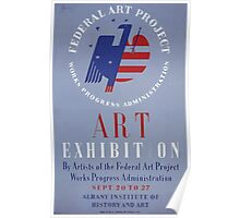 WPA United States Government Work Project Administration Poster 0203 Federal Art Project Exhibition Poster