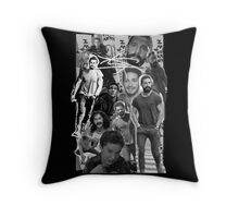 Shia Labeouf Collage Throw Pillow