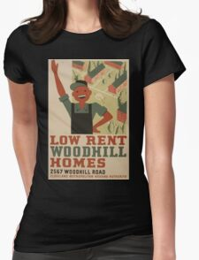 WPA United States Government Work Project Administration Poster 0962 Low Rent Woodhill Homes Cleveland Metropolitan Housing Authority Womens Fitted T-Shirt