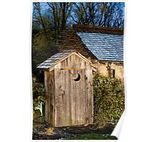 Outhouse on a Moonlit Night Poster