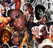 2Pac & Biggie Collage Phone Cases by VisionaryCS