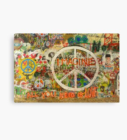 The Beatles John Lennon All You Need is Love Imagine Canvas Print