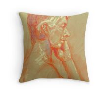 Life drawing side view Throw Pillow