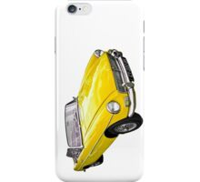 Yellow convertible MG classic car iPhone Case/Skin