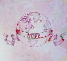 Watercolor Ribbon of Hope by leighannart
