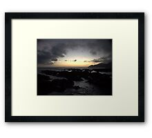 Moody Shores Framed Print