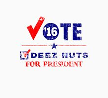 Vintage Vote Deez Nuts For President 2016 Women's Fitted Scoop T-Shirt