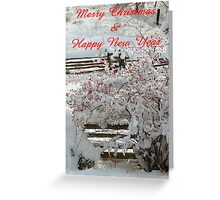 Split Rails in the Snow Greeting Card