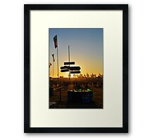 Lost at the Glastonbury Festival Framed Print
