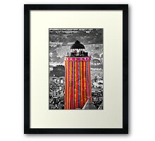 The Ribbon Tower, Glastonbury Framed Print