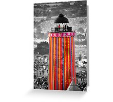 The Ribbon Tower, Glastonbury Greeting Card