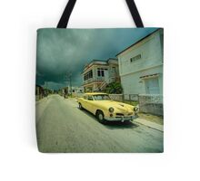 Yellow storm car  Tote Bag