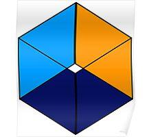 Geometric cube Poster