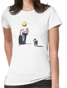 Skating with your best friend Womens Fitted T-Shirt