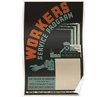 WPA United States Government Work Project Administration Poster 0511 Workers Science Program Poster