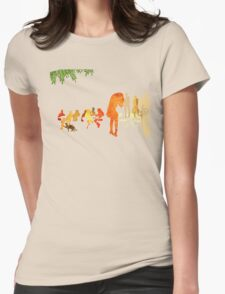 People in a cafe Womens Fitted T-Shirt