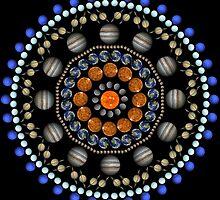 Planet Mandala - Black by aliciaali74