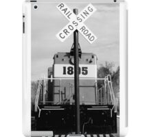 railroad croassing iPad Case/Skin