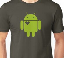 Android Droid Heart Unisex T-Shirt