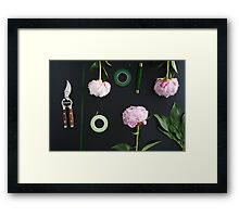 Florist workplace and accessories Framed Print