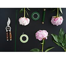 Florist workplace and accessories Photographic Print