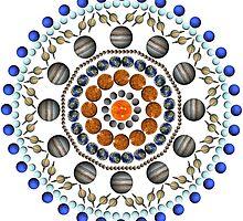Planet Mandala - White by aliciaali74