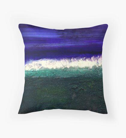 Mud Beach Throw Pillow