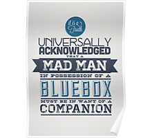 A Mad Man in Possession of a Blue Box Poster