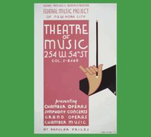 WPA United States Government Work Project Administration Poster 0148 Theatre of Music New York City One Piece - Short Sleeve