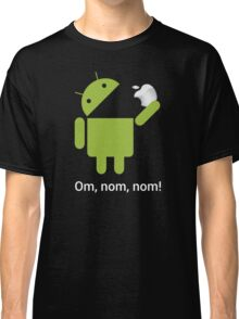 Android Om Nom Nom - Android Eat Apple Classic T-Shirt