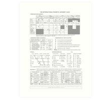 International Phonetic Alphabet Art Print