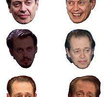Steve Buscemi Faces by Alexandra Buchholz