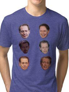Steve Buscemi Faces Tri-blend T-Shirt