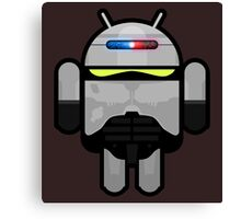 Android Police - Android Robocop Canvas Print