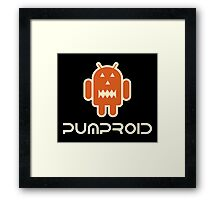 Android Pumproid - Pumpkin Droid Framed Print