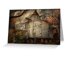 Fantasy - Haunted - The Caretakers House Greeting Card