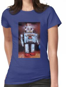Space Robot by John Springfield Womens Fitted T-Shirt