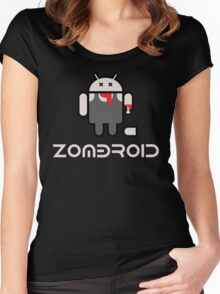 Android Zomdroid - Android Zombie Women's Fitted Scoop T-Shirt