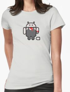 Android Zomdroid - Android Zombie Womens Fitted T-Shirt