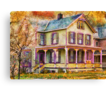 Victorian - Clinton, NJ - Grandma had a big family Canvas Print