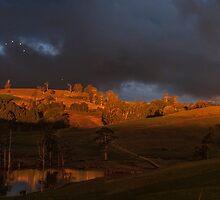 Dark eerie sunset by Josie Jackson