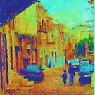 The cobblestone walk by Donna Macarone