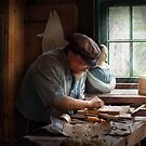 Trade - Carpenter - Carving the Figurehead  by Mike  Savad