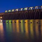 Lake Hume wall at night by John Vandeven