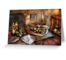 Chef - Kitchen - The start of a healthy meal  Greeting Card