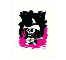 Guitarrista Muerto Art Print