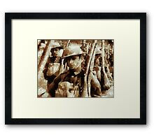 British Soldiers by John Springfield Framed Print
