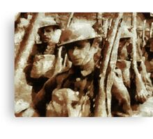 British Soldiers by John Springfield Canvas Print