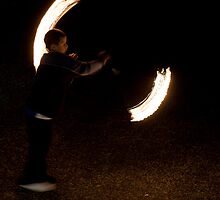 Urban fire dancer 2 by Jeremy Levartovsky